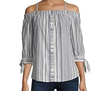Off the shoulder, IZ BYER blouse! New with tags!